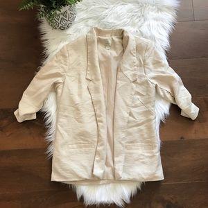 LC LAUREN CONRAD cream blazer size 8